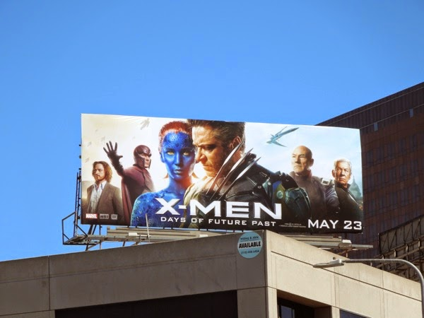 X-Men Days of Future Past movie billboard