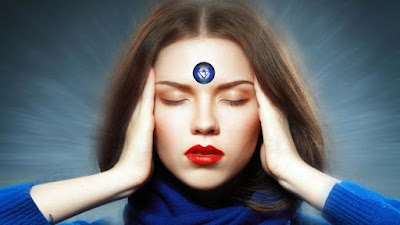 The third eye is the chakra, whose branches extend to the root of the nose and towards the central part of the forehead. It belongs to the energy body and is not visible to the human eye.