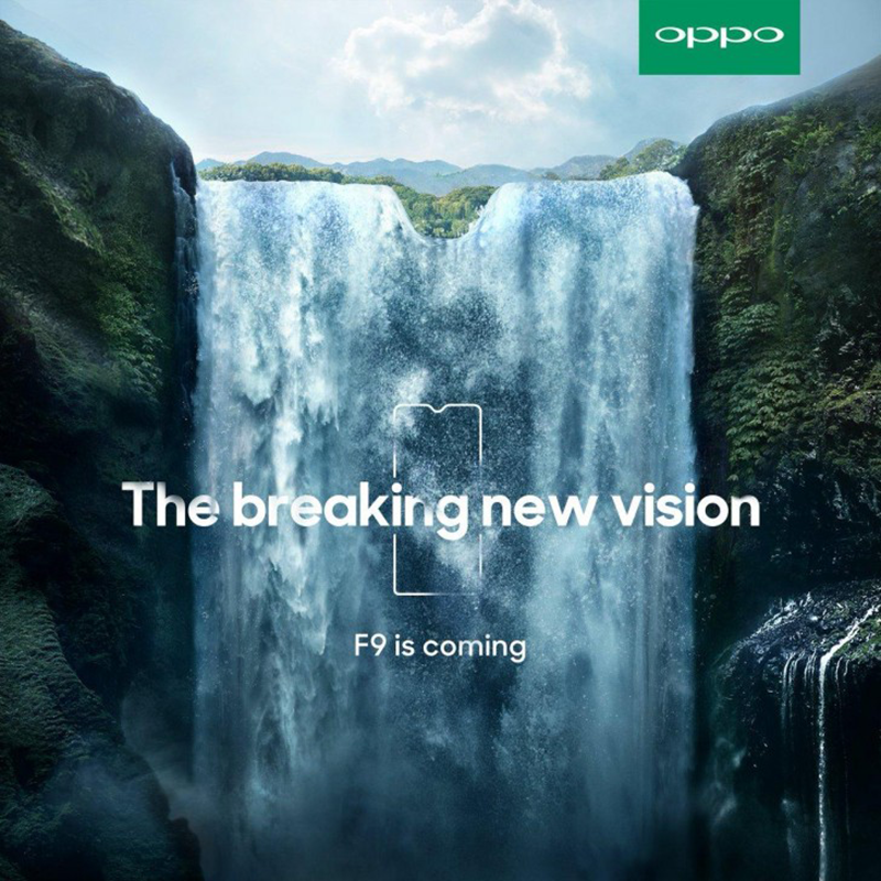 OPPO F9 teased, will have a smaller notch than F7?