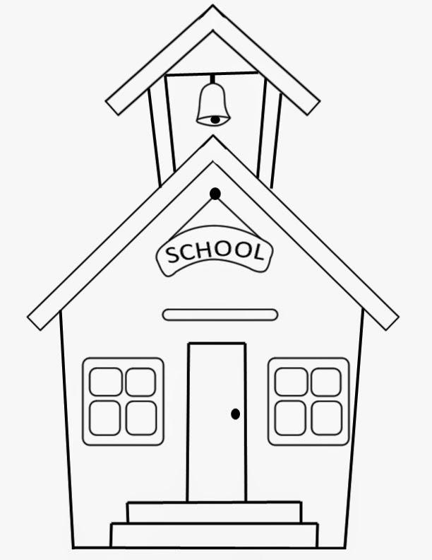 FUN & LEARN : Free worksheets for kid: ภาพระบายสี โรงเรียน