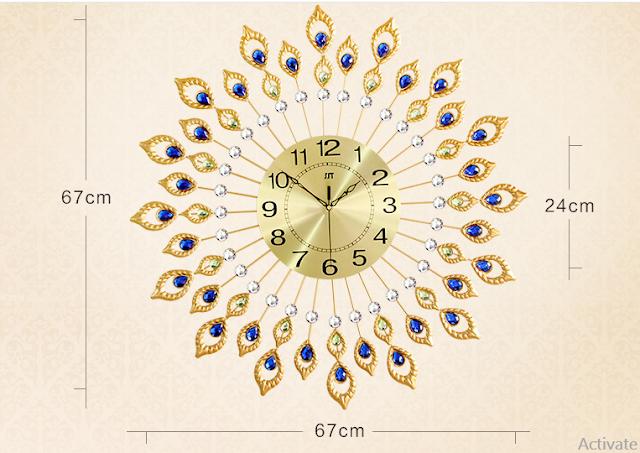 Đồng hồ trang trí treo tường DHNL316
