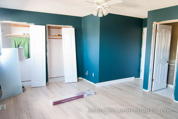 Master Bedroom Progress Benjamin Moore Dark Harbor