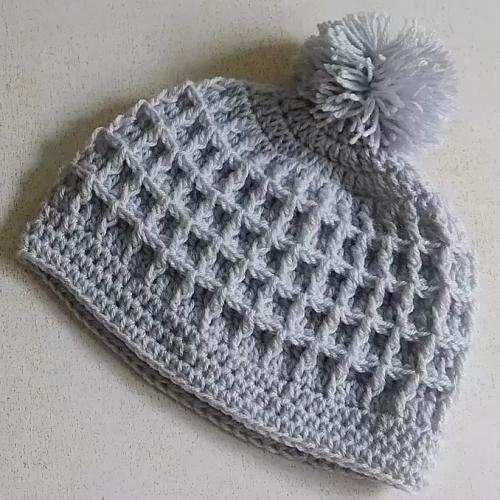 Crochet Waffle Stitch Beanie Hat - Tutorial