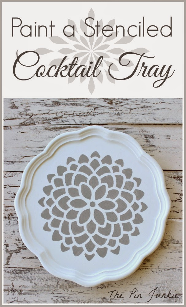 Paint A Stenciled Cocktail Tray