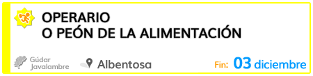Operario o peón de la alimentación en Albentosa