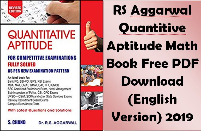 Rs Agrawal Aptitude Book