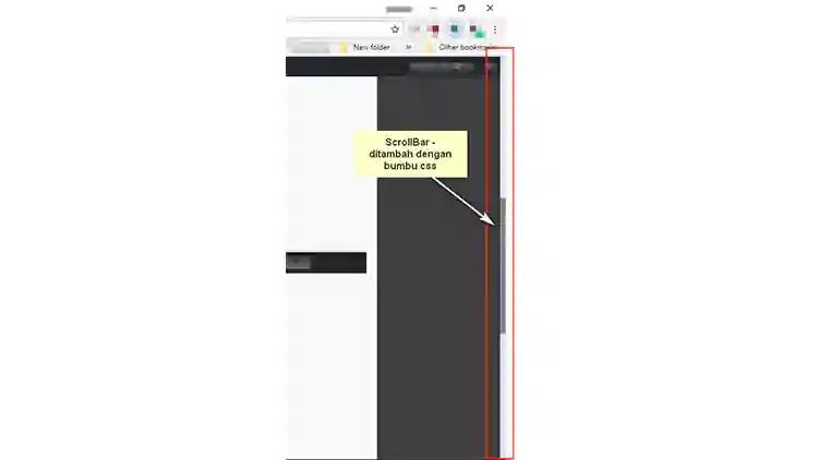 Merubah Tampilan ScrollBar blog