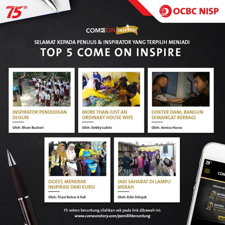 Menang Lomba Menulis Come On Inspire Bank OCBC NISP