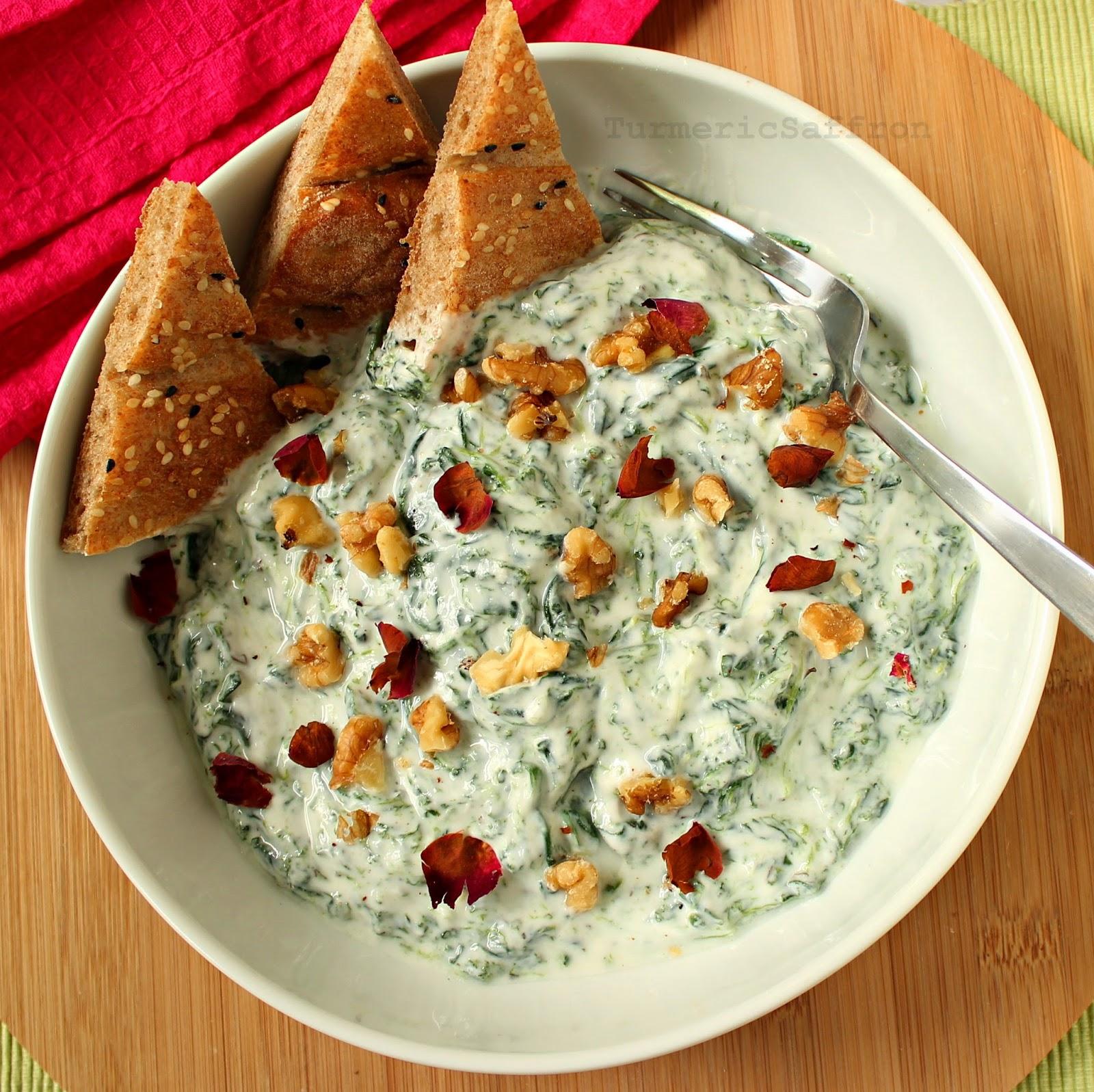 Turmeric & Saffron: Mast Esfenaj - Persian Yogurt and ...