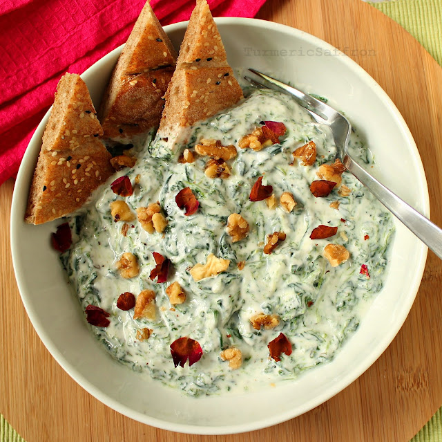 Persian Yogurt and Spinach Dip