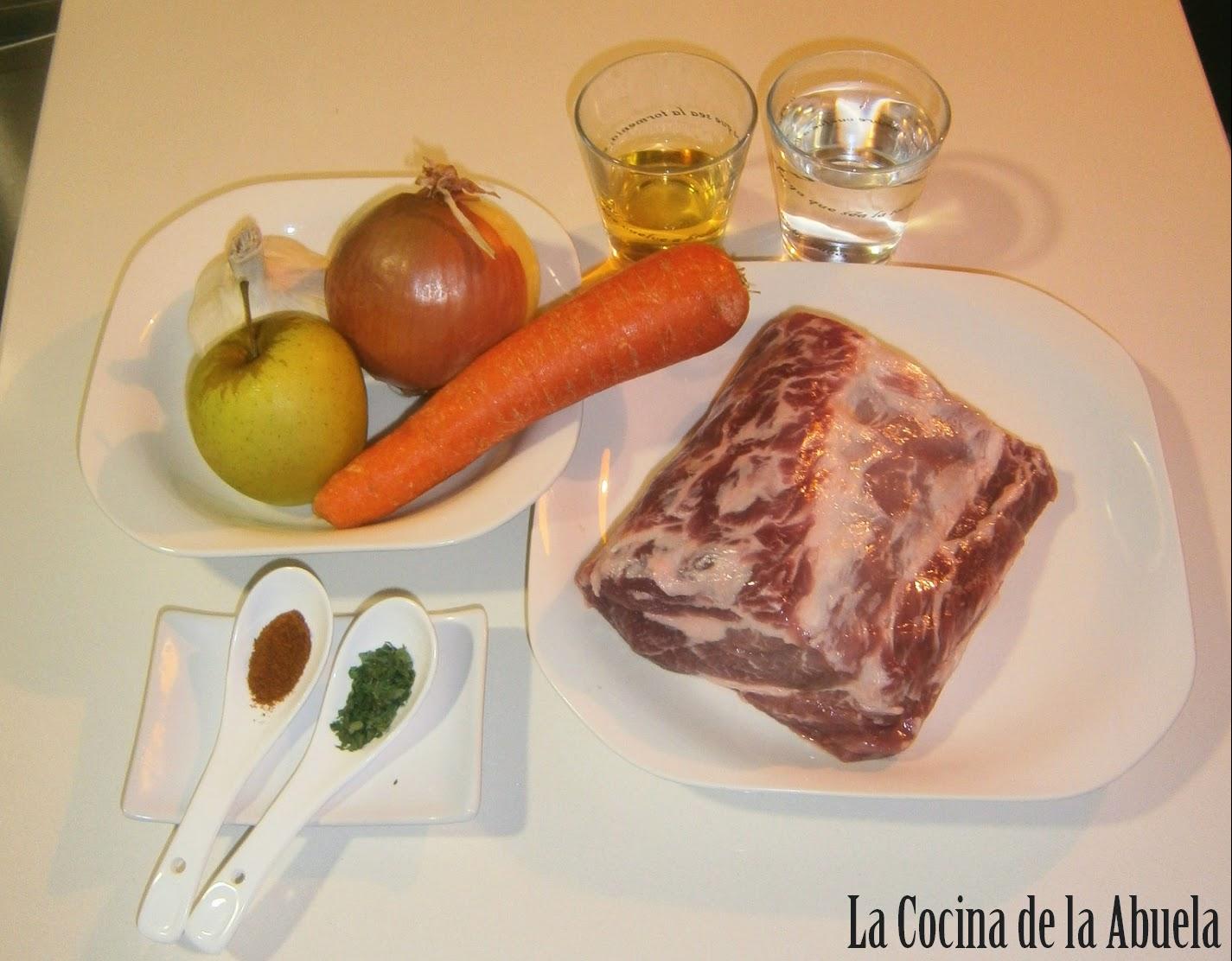 Lomo en Salsa de Manzana.