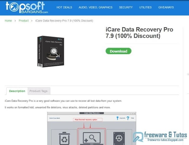 Offre promotionnelle : iCare Data Recovery Pro 7.9 gratuit !