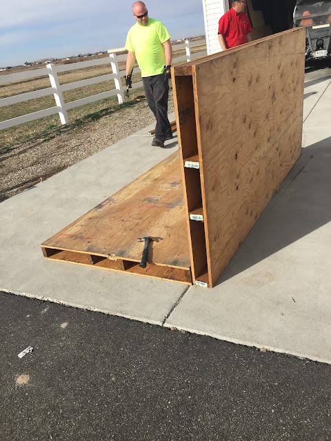 4x8 Pallets from Plywood and 2x4's used for Chicken Coop