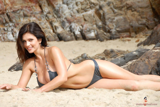 Denise-Milani-Beach-Silver-bikini-hottest-photoshoot-pics-4