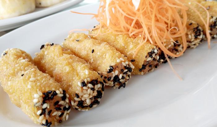 Minced Shrimp with Black Sesame Seeds
