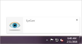EyeCare extension custom notification