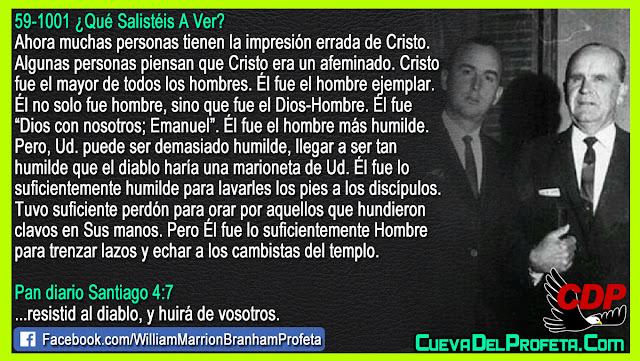 Cristo fue el mayor de todos los hombres - Citas William Branham Mensajes