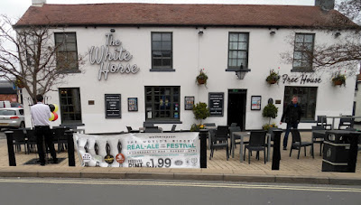 The White Horse pub in Brigg pictured on March 27, 2019 - the first day of the Wetherspoon beer and cider festival