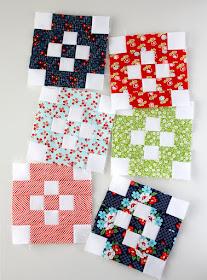 Cute tiny blocks using Bonnie and Camille fabrics