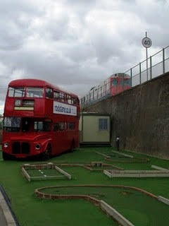 Crazy Golf course in Chiswick, London