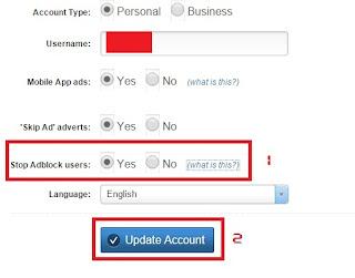 Tips Adfly - Cara aktifkan Anti Adblock pada akun Adfly