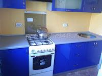 Кухня синий глянец