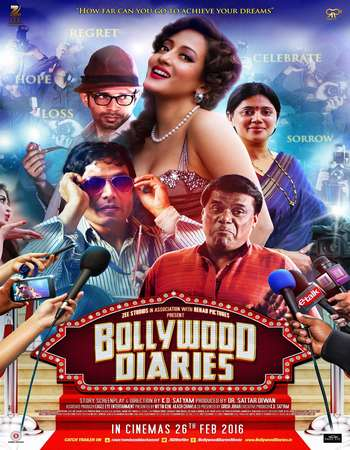 Poster Of Bollywood Diaries 2016 Hindi 350MB DVDRip 480p ESubs Watch Online Free Download downloadhub.in