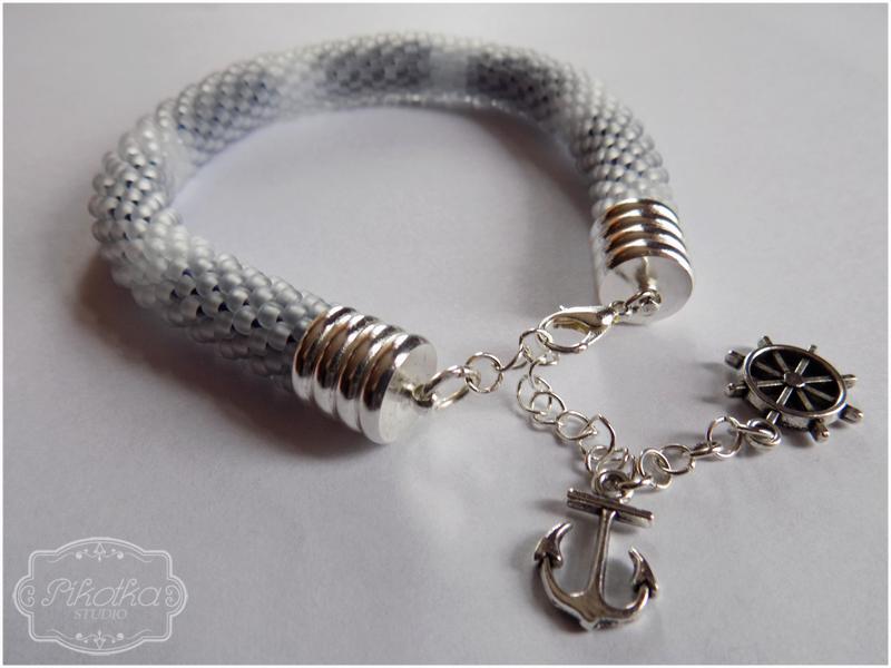sznur szydełkowo-koralikowy, crochet bead, koraliki toho, rękodzieło, handmade, bransoletka, bracelet, biżuteria, szydełko, koraliki, kordonek