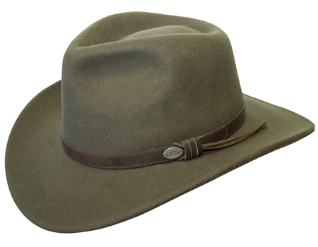 The Aussie Wool Crusher is an awesome looking felt hat with the leather  band it is from Adventure Hat 984f7cfb3a8