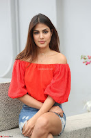 Rhea Chakraborty in Red Crop Top and Denim Shorts Spicy Pics ~  Exclusive 327.JPG