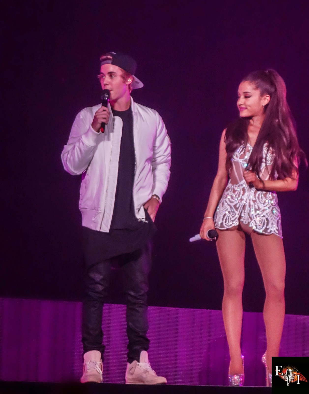 Ariana Grande – Performing with Justin Bieber in Miami