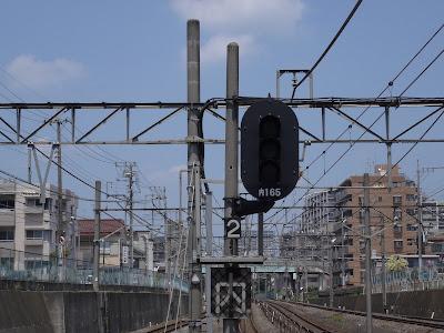東武東上線朝霞台駅構内にある信号機