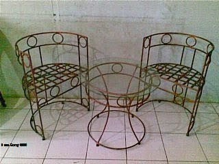 kursi antik, kursi mewah, kursi besi tempa