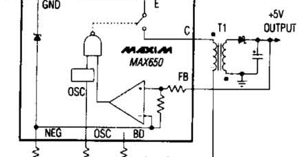 circuit diagram: Simple Switching Regulator Converter