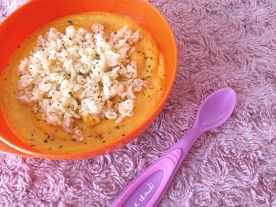 Recette bébé : Pâtes Carottes Poulet au fromage