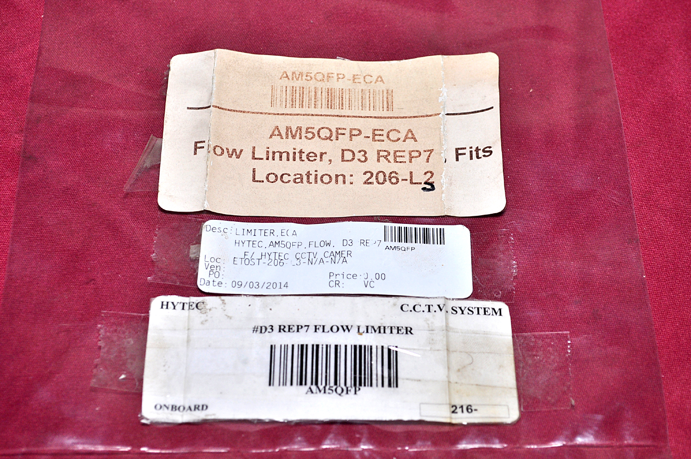 Aeliya Marine Tech Pvt Ltd | FLOW LIMITER  D3 REP7 , FITS