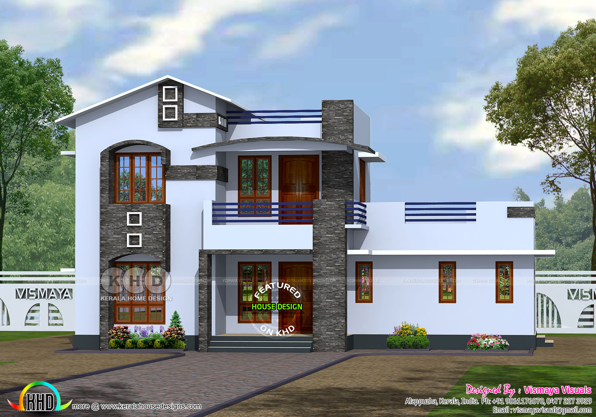 Front Elevation Design For South Facing House : House plan suit for east and south facing land kerala