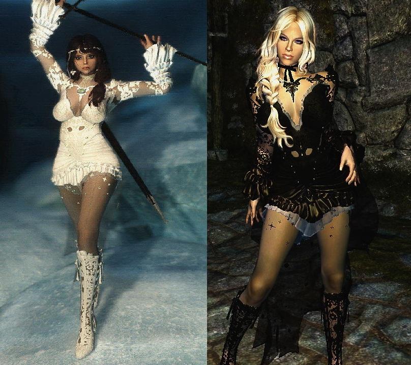 Winter Snow Dress Unp Hdt Cloth Eskyrim