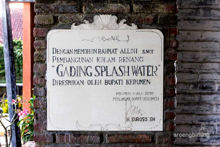 gading splash water kebumen
