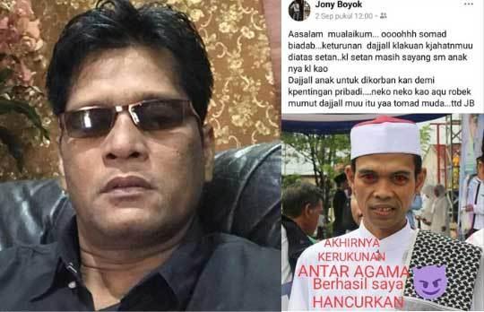 Penghina Ustaz Abdul Somad Seperti Dajjal Kini Jadi Tersangka