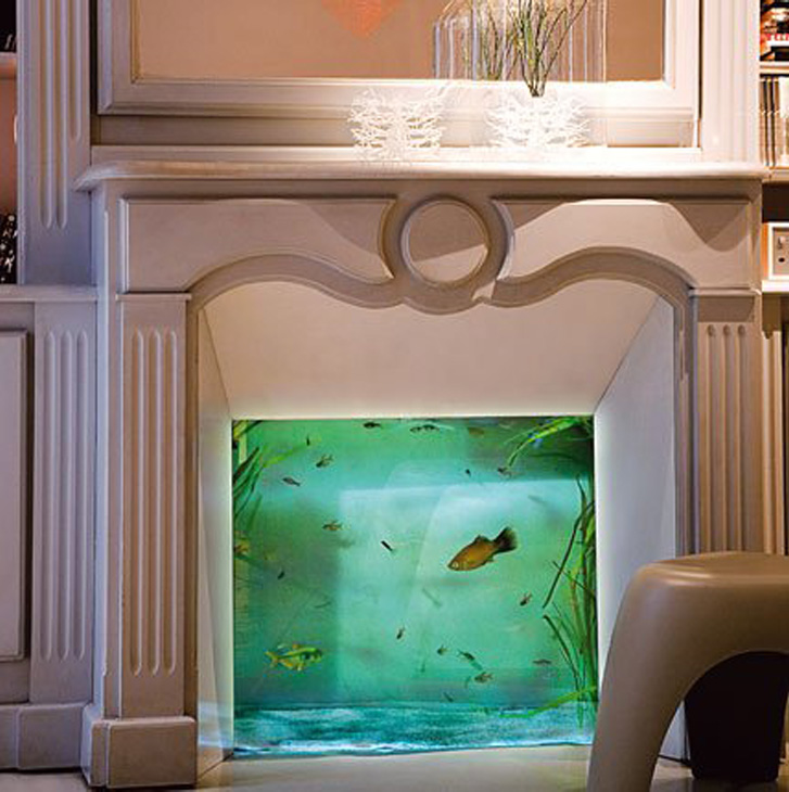 Home Aquarium Design Ideas: No Room For An Aquarium? Think Again. 20 Unusual Places In