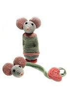Rammelaar en speenkoord muis