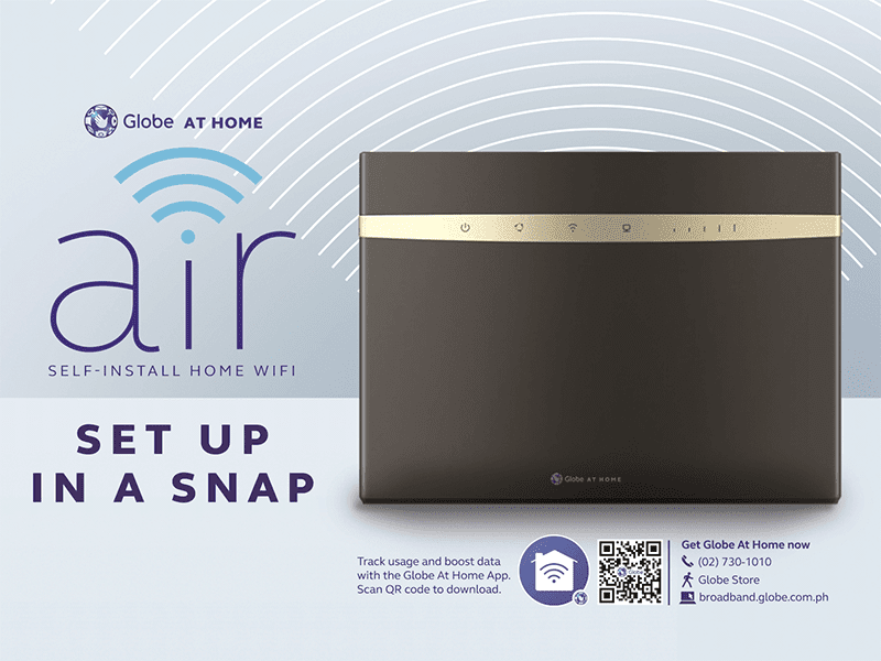 Globe At Home Air goes official, DIY high-speed home internet