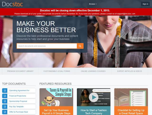 Layanan Docstoc Akan Di Tutup 1 Desember 2015