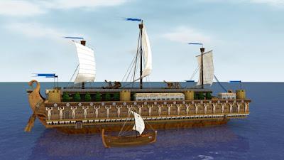 El barco Syracusia, tan grande como el Titanic, pero que sí llegó a buen puerto en su primera travesía.