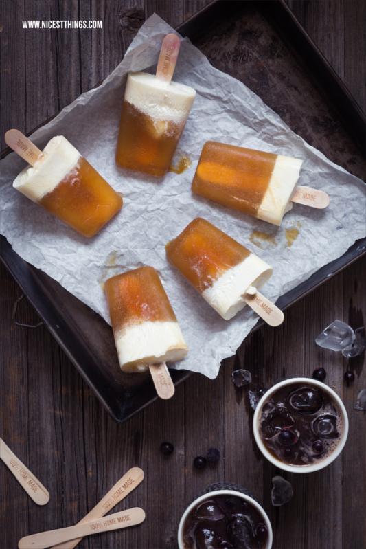 Maracuja Coffee Slush Popsicles
