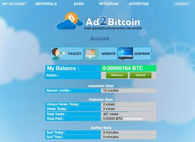 Avec Ad2Bitcoin, vous pouvez suivre facilement vos gains quotidiens