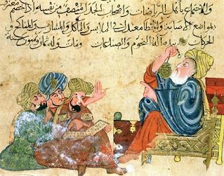 Aristóteles en una ilustración árabe