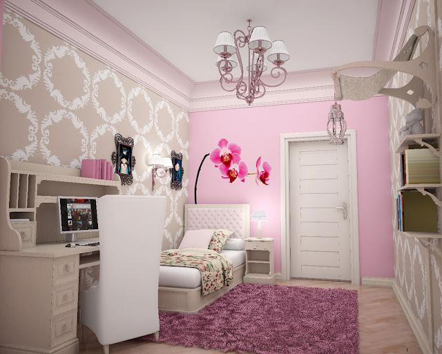 Bathrooms Models Ideas: Girls Bedroom Wall Ideas