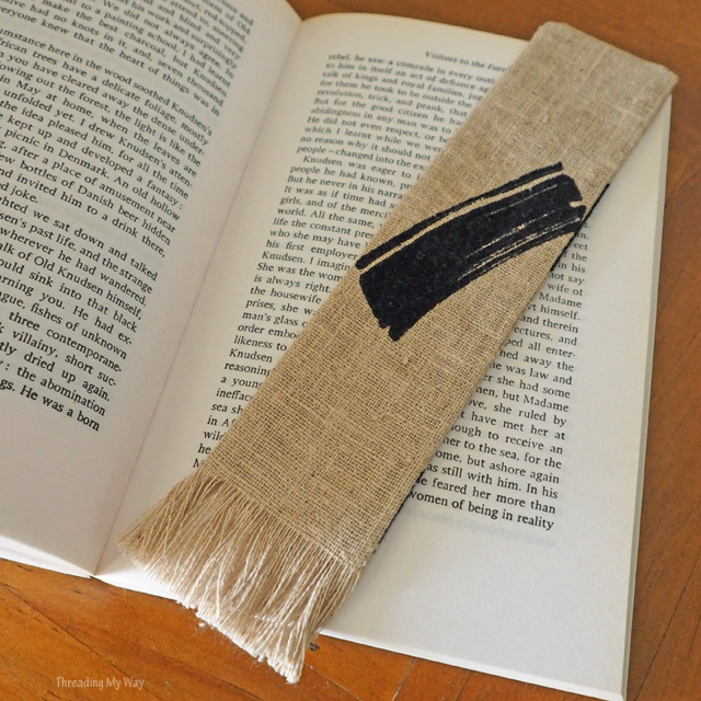 Make a fabric bookmark from fabric scraps - a quick and easy sewing project ~ Threading My Way